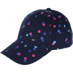 Regatta Cuyler II Cap Girls Navy Polka